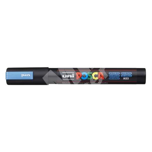 Uni Posca PC-5M akrylový popisovač, 2,5 mm, metal. modrý 1