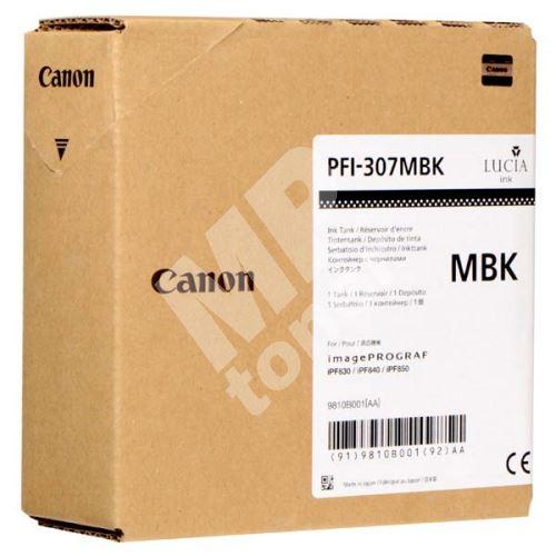 Cartridge Canon PFI-307MB, 9810B001, black, originál 1
