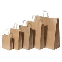 Papírová taška s krouceným uchem, 320x200x280mm, hnědá