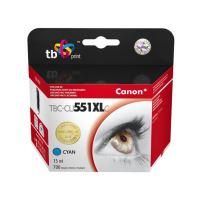 Kompatibilní cartridge Canon CLI-551C XL, cyan, 15ml, TB