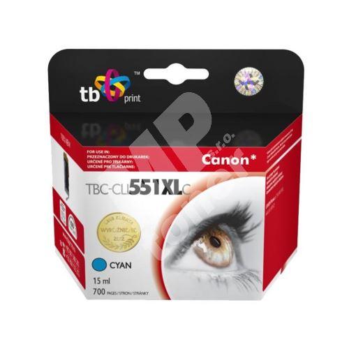 Cartridge Canon CLI-551C XL, cyan, TB 1