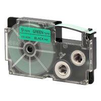 Páska do tiskárny štítků Casio XR-9GN1 9mm černý tisk/zelený podklad