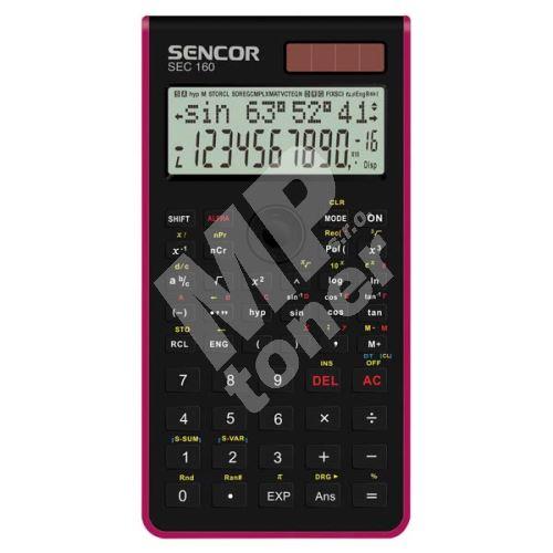 Sencor kalkulačka, SEC 160 RD, červená, školní, dvanáctimístná 1