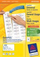 Univerzální etikety AVERY QuickPEEL, 64 x 36 mm 100 listů A4 - 3670