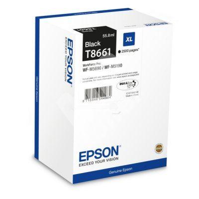 Cartridge Epson C13T866140, black, originál 1