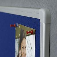 Filcová modrá tabule 90 x 120 cm, rám ALU, 2x3 2