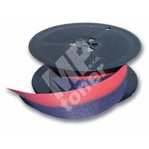 Páska pro psací stroj DIN 1, červeno - černá, textilní, 13mm 1