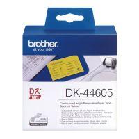 Papírová role Brother DK44605, 62mm x 30.48m, žlutá, snímatelná, 1 ks