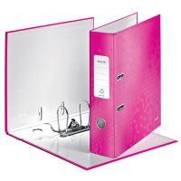 Pákový pořadač 180 Wow, růžová, lesklý, 80 mm, A4, PP/karton, LEITZ 2