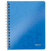 Blok na psaní Leitz WOW A5, linkovaný, drátěná vazba s PP deskami, modrý