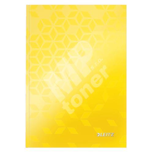 Zápisník Leitz WOW A5, linkovaný, žlutý 1