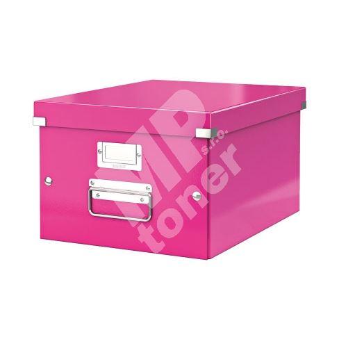 Archivační krabice Leitz Click-N-Store M (A4) wow, růžová 1