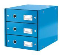 Archivační box zásuvkový Leitz Click-N-Store, 3 zásuvky, modrý