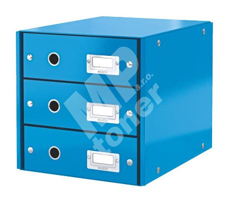 Archivační box zásuvkový Leitz Click-N-Store, 3 zásuvky, modrý 1