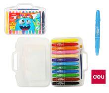 Pastelky gelové Deli Color Kids 12 barev EC20504