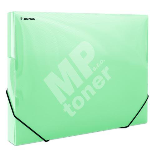 Donau box na spisy s gumičkou A4, 30 mm, PP, zelený 1