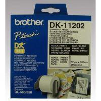 Štítky papírové Brother 62mm x 100mm, bílá, 300 ks, DK11202 1
