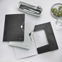 Desky s gumičkou Leitz WOW, A4, PP, černá 3