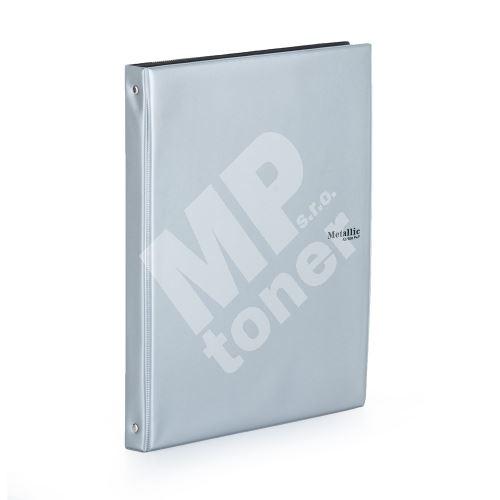 Poznámkový blok A4 karisblok Metallic, stříbrná 1