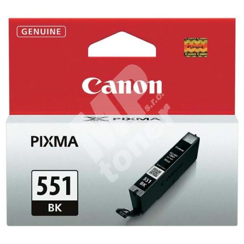 Cartridge Canon CLI-551Bk, black, 6508B001, originál 1