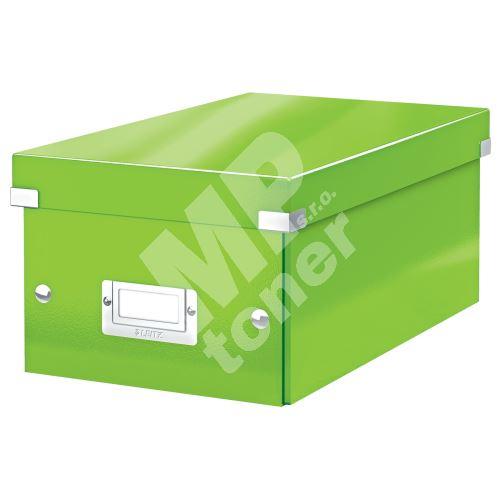 Archivační krabice na DVD Leitz Click-N-Store WOW, zelená 1