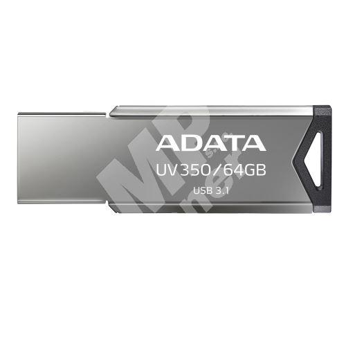 64GB ADATA UV350 USB 3.1 silver (potisk) 1