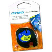 Páska Dymo LetraTag 12mm x 4m plastová žlutá, 59423, S0721570