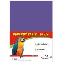 Barevný papír A3, 80g, fialový, 100 listů