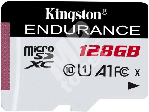 128GB Kingston microSDXC Endurance CL10 A1 95R/45W bez adapteru 1