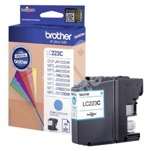 Inkoustová cartridge Brother LC-223C, MFC-J4420DW, MFC-J4620DW, cyan, originál
