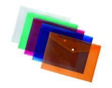 Obálka plastová s drukem A5, oranžová