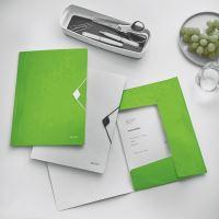 Desky s gumičkou Leitz WOW, A4, PP, zelená 3
