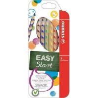 Barevná pastelka STABILO Easycolours, HB, trojhranná, pro leváky, 6ks/bal.