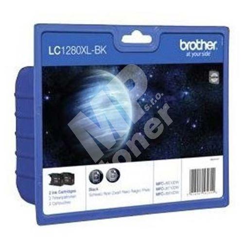 Inkoustová cartridge Brother LC-1280XLBKBP2, MFC-J6910DW, 2x black, HC, originál