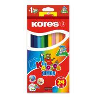 Pastelky Kores Kolores Jumbo 93524 Trojhranné 24 barev