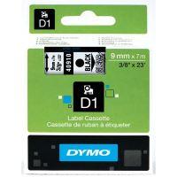 Páska Dymo D1 9 mm x 7m, černý tisk/průhledný podklad, 40910, S0720670