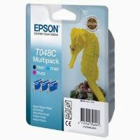 Inkoustová cartridge Epson C13T048C40, RX500, R200, 3x13ml, 430s, BK/C/M PACK originál