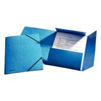 Tříchlopňová prešpánová deska Esselte, s gumičkou, modrá