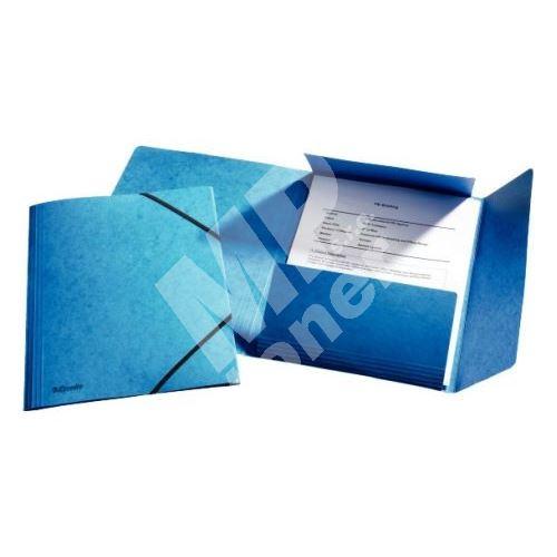 Esselte Tříchlopňová prešpánová deska s gumičkou, modrá 1