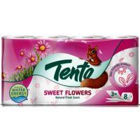 Tento Sweet Flowers parfémovaný toaletní papír 3 vrstvý 150 útržků 8 kusů