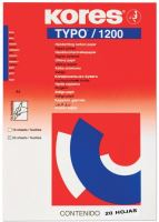 Uhlový papír Kores 20 listů modrý, kopírák