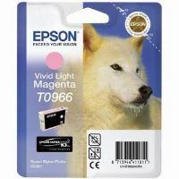 Inkoustová cartridge Epson C13T09664010, Stylus Photo R2880, světle červená, originál