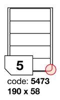 Samolepící etikety Rayfilm Office 190x58 mm 300 archů, inkjet, R0105.5473D