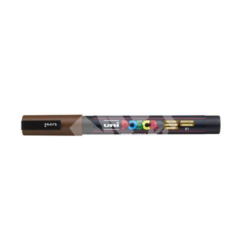 Uni Posca PC-3M akrylový popisovač, 0,9-1,3 mm, hnědý 1