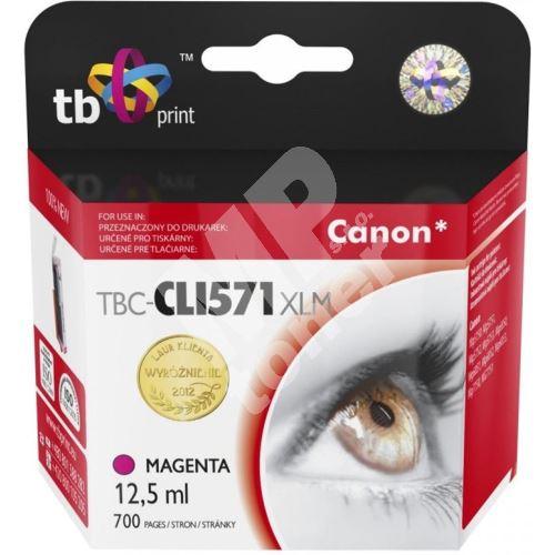 Cartridge Canon CLI-571M XL, magenta, TB 1