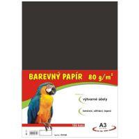 Barevný papír A3, 80g, černý, 100 listů