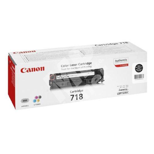 Toner Canon CRG718Bk, 2662B005, 2-pack, originál 1