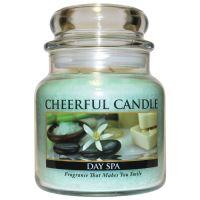 Cheerful Candle Vonná svíčka ve skle Den v Lázních - Day Spa, 16oz