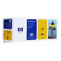 Inkoustová cartridge HP C4933A žlutá, No. 81 originál