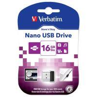 16GB Verbatim Nano Store'n'Stay, USB flash disk 2.0, 97464, černá